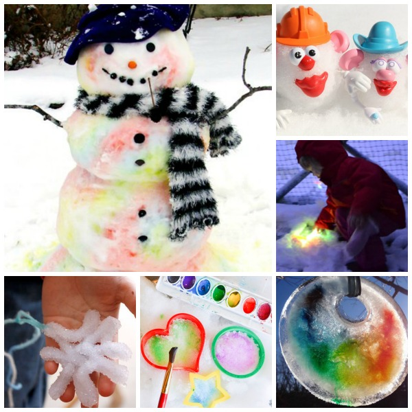 25 MUST TRY KIDS ACTIVITIES FOR WHEN IT SNOWS.  These are so fun!  I can't wait to try snow painting