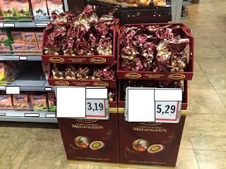 Palle di Mozart Mirabell in offerta al supermercato