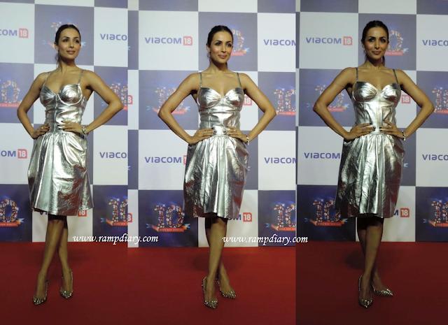 Malaika Arora Khan Wears Pilar del Campo at Viacom 18 party