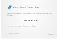 Chrome Remote Desktop - screenshot