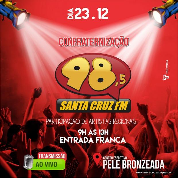 Rádio Santa Cruz FM realizará festa de confraternização