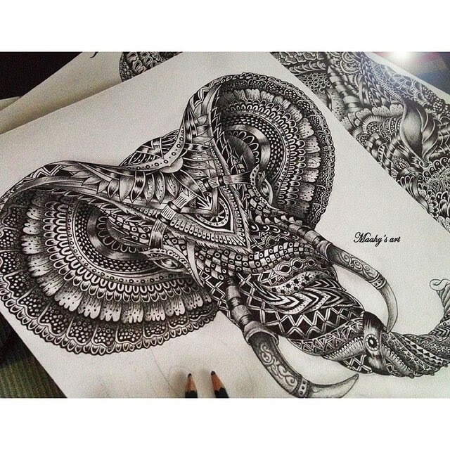 10-Elephant-Head-Maahy-Drawings-Given-the-Zentangle-Treatment-www-designstack-co