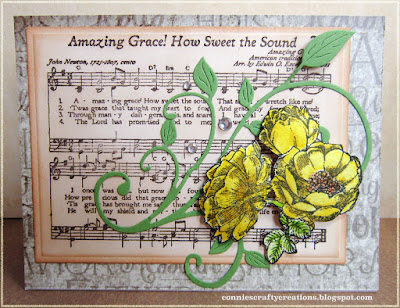 ODBD Fragrance, ODBD Amazing Grace Hymn, ODBD Vintage Ephemera Paper Collection, Card Designed by ConnieCrafter