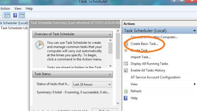 Task Scheduler Windows 8
