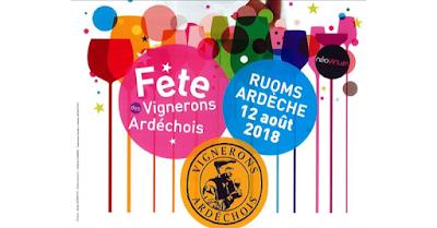 Vin - Vos événements à ne pas manquer en Août 2018 Fête des Vignerons Ardéchois à Ruoms