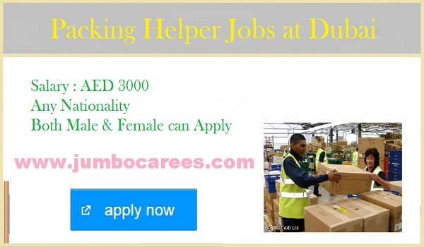 Packing Helper Jobs in Dubai for Chocolate Factory - June 2018