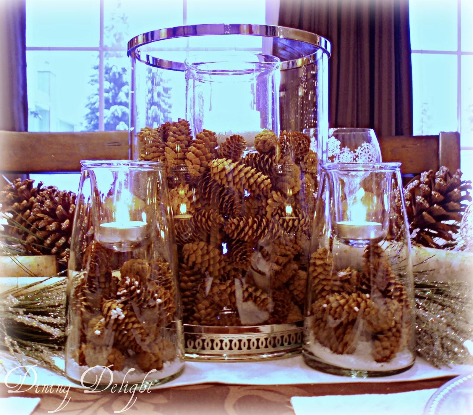 Dining Delight Birch Winter Tablescape