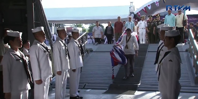 Pres. Duterte attended the 119th founding anniversary celebration of the Philippine Navy (PN) at the Sasa Wharf in Davao City.