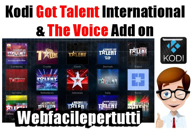 Kodi Got Talent International & The Voice Add on