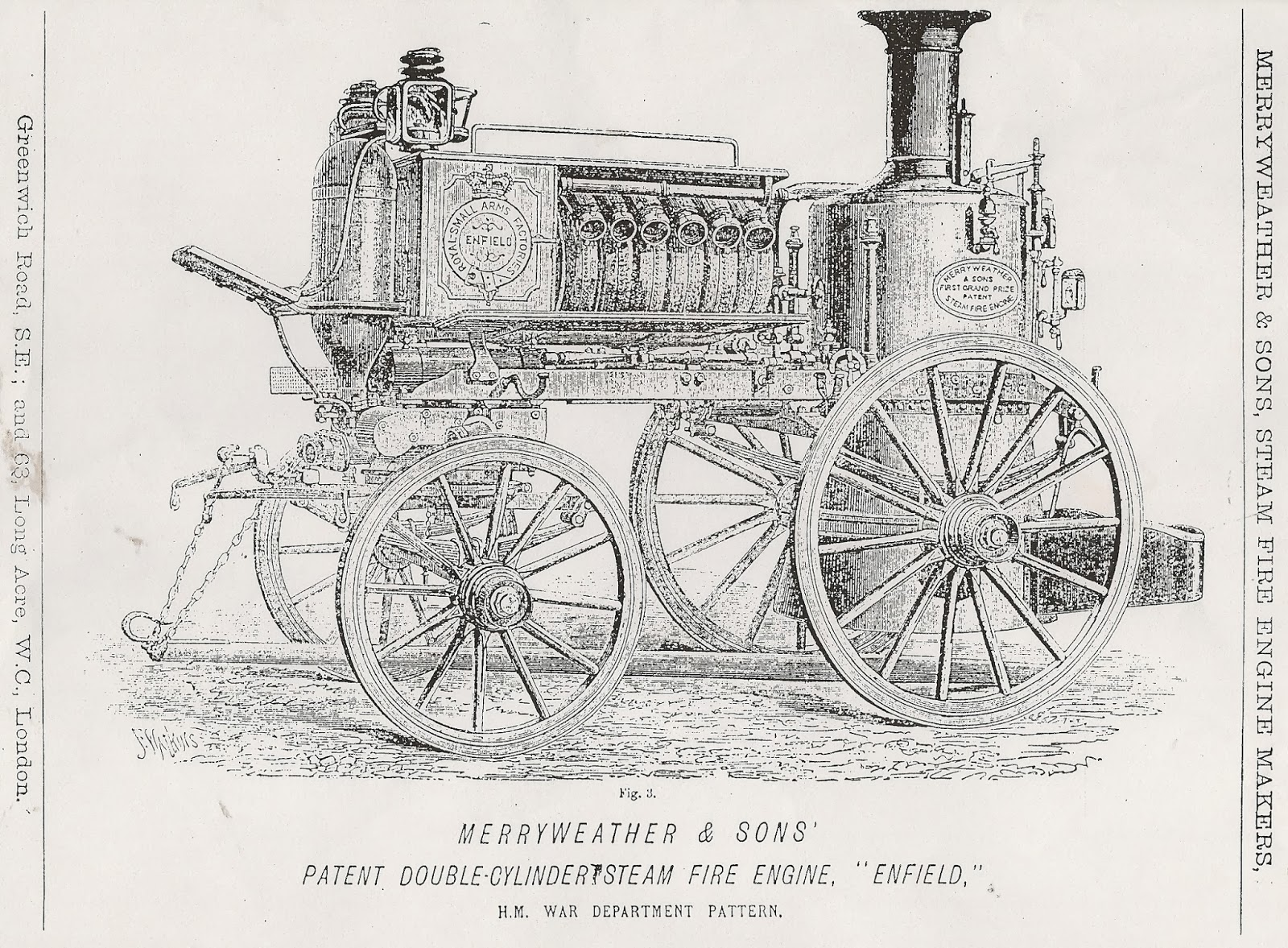 Greenwich Industrial History Merryweather Fire Engine Enfield