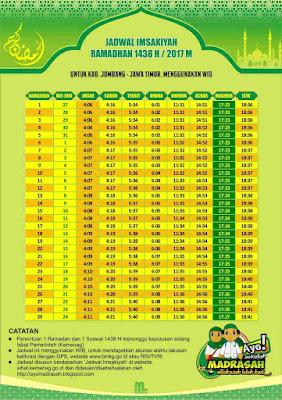 Jadwal Imsakiyah Jombang