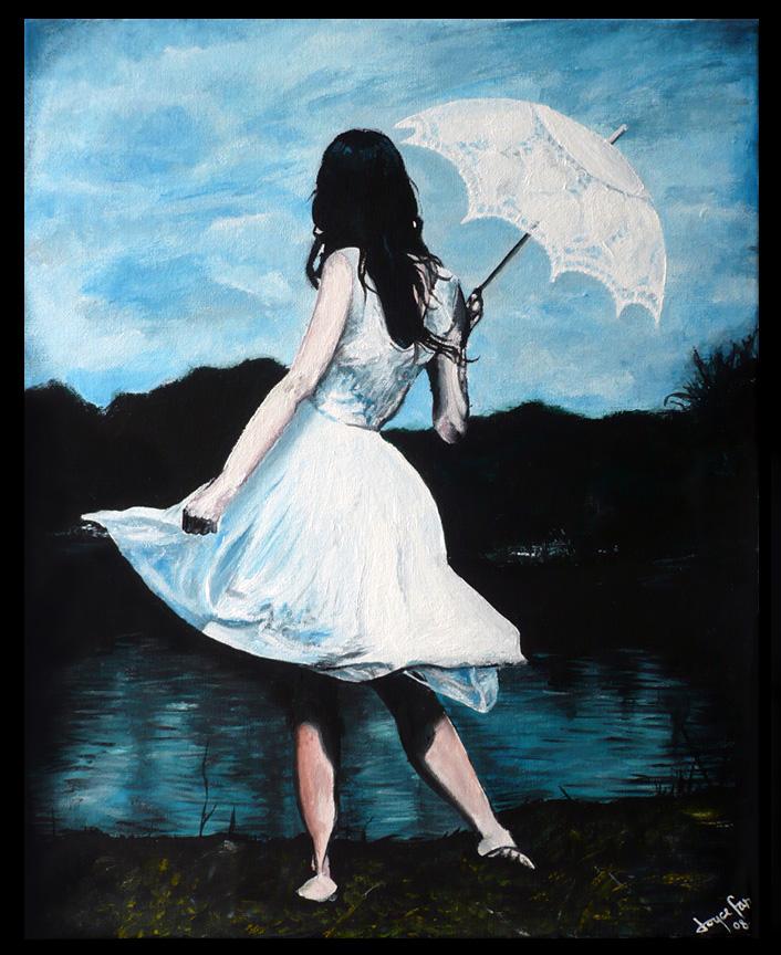 Girl with Umbrella ~ BEAUTIFUL GIRL WALLPAPERS