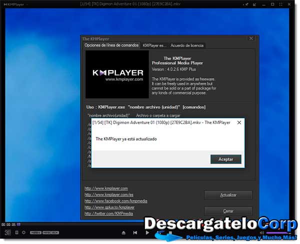 KMPlayer v4.0.7.1 Español Poderoso Reproductor de Audio y Vídeo