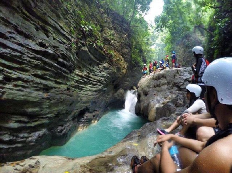 Canyoneering in South Cebu | The second to the last jump site. Wasn't brave enough to do it, maybe next time.