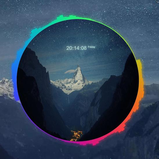 Audio Respsonsive Mountains Wallpaper Engine