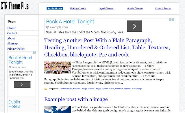 Adsense blogger responsive template