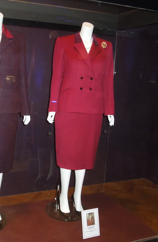 Iron Lady 1990 Downing Street resignation outfit