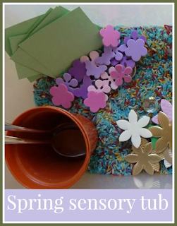 How to make a Spring sensory tub for toddlers