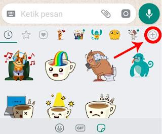 cara membuat emoticon bergerak di status wa