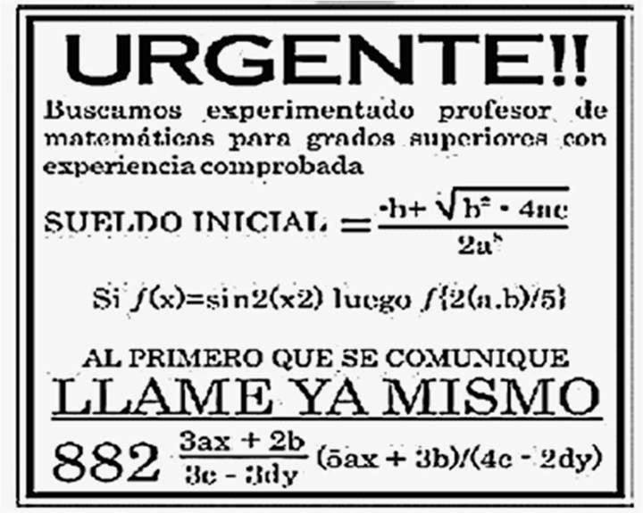 Urgente Se Necesita Profesor De Matemáticas Imagenes