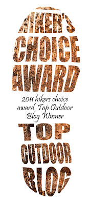 I placed 5th in The Hiker's Choice Award - Top Outdoor Blogs