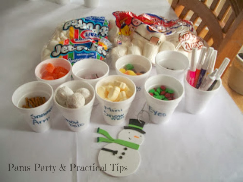 Make your own snowman bar with lot of goodies