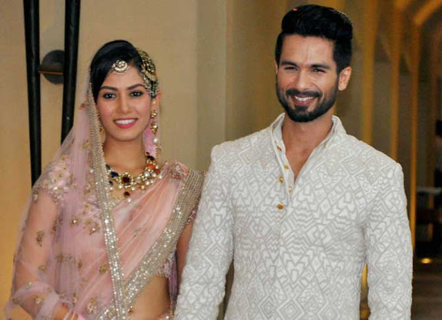 shahid kapoor, mira rajput marriage pics