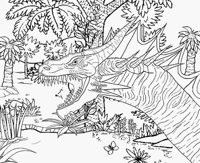 Spooky woodland swamp monster complex image how to draw Halloween coloring pages for older kids art
