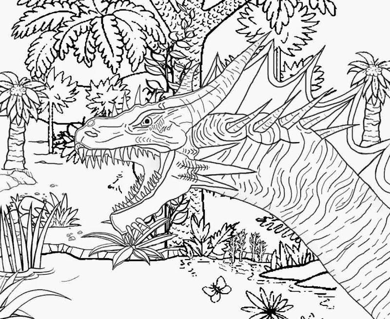 complex free coloring pages | Mountain Landscape Coloring Pages (8 Image) – Colorings.net
