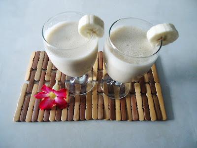 Batido de yogur, plátano y vainilla