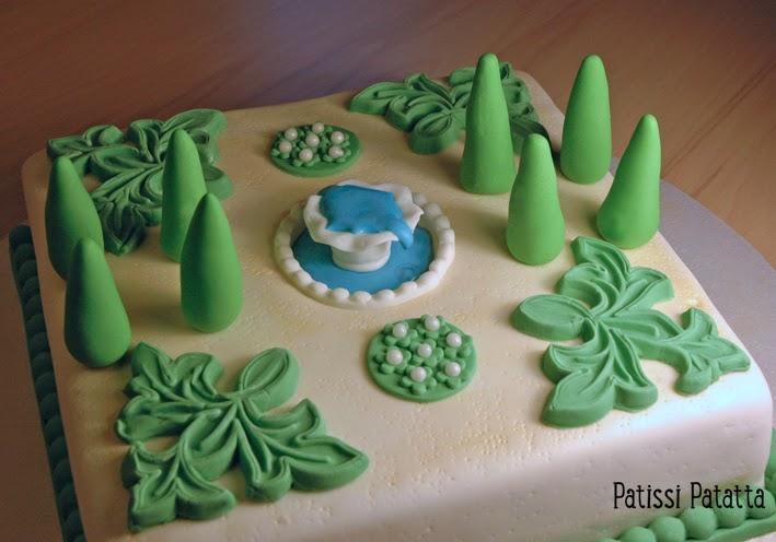 cake design, gâteau 3D, pâte à sucre, gumpaste, fondant, jardin, garden cake