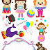 Baby Circus for Girls: Printable Cake Toppers.