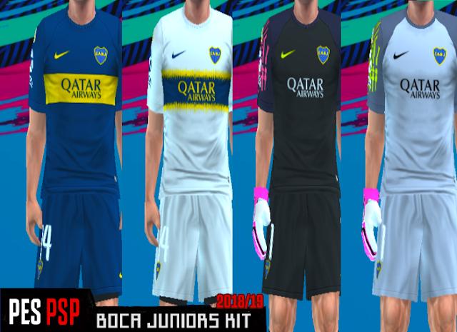the best attitude 9ba27 8dc41 Boca Juniors Kits 2018/2019 PES PSP (PPSSPP)