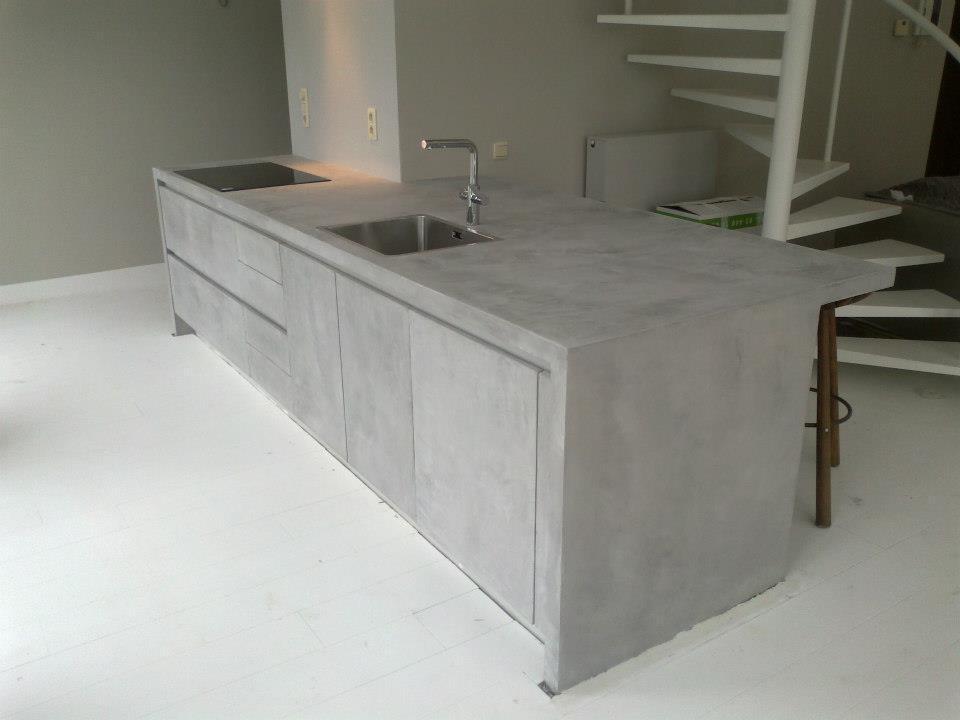 Pladur barcelona microcemento mortex - Mueble encimera cocina ...