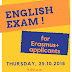 ENGLISH EXAM FOR ERASMUS+ APPLICANTS