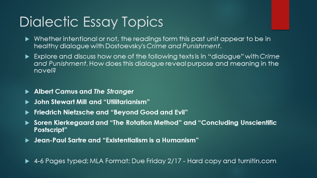 Crime and punishment essay questions