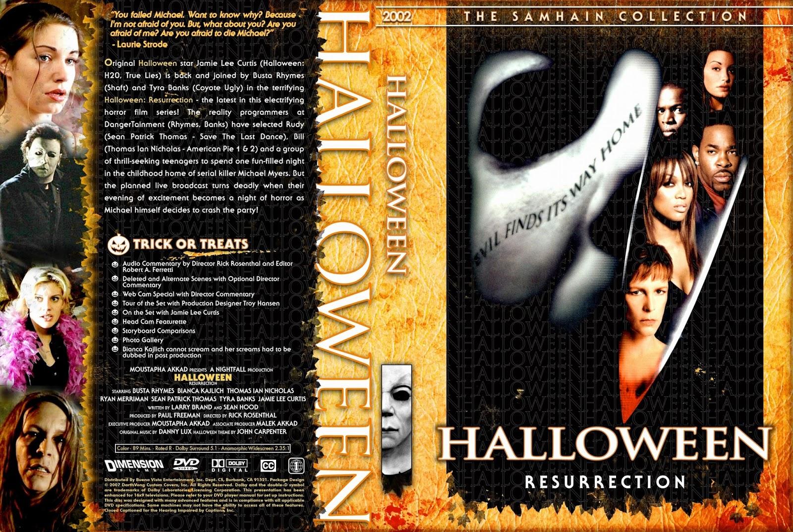 Fin The Horrors of Halloween: HALLOWEEN RESURRECTION (2002) VHS, DVD WK-66