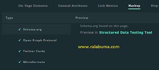 Melihat Schema Data Blog Yang Terstruktur
