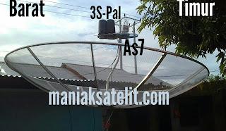 Menggabungkan LNB Satelit Asiasat 7-Palapa-Telkom3S