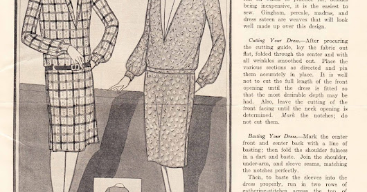 Making Your First Dress - A Lesson from 1927