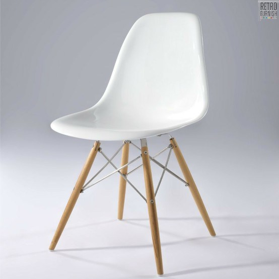 White Eames DSW chair