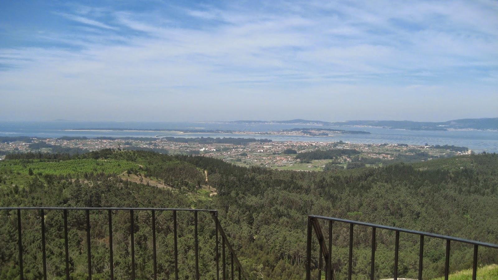 Vistas desde el Monte Lobeira en Vilanova de Arousa