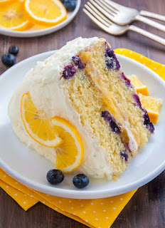 lemon blueberry cake for fourth anniversary