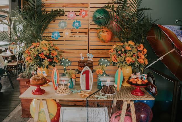 mesa festa praia