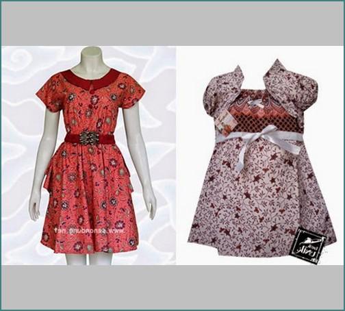 Model Baju Batik Anak Perempuan Terbaru Foto dan Gambar