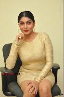 Actress Pooja Roshan Stills in Golden Short Dress at Box Movie Audio Launch  0078.JPG