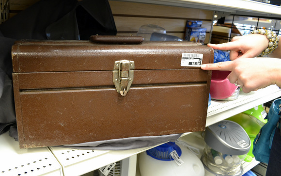 $8 brown toolbox