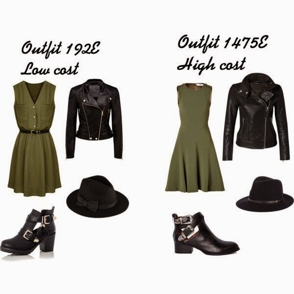 Outfit negro y verde