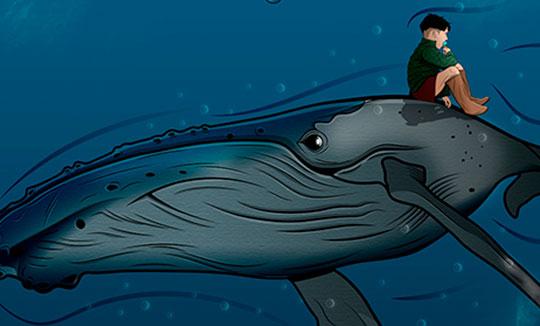 Ilustración, Yubarta de Jhony Marin aka FLUI2GRAFICOS