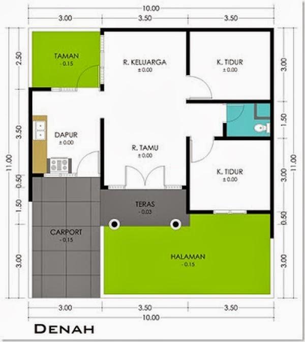 Contoh Gambar Desain Rumah Minimalis Type 36 Terbaru - Rumah